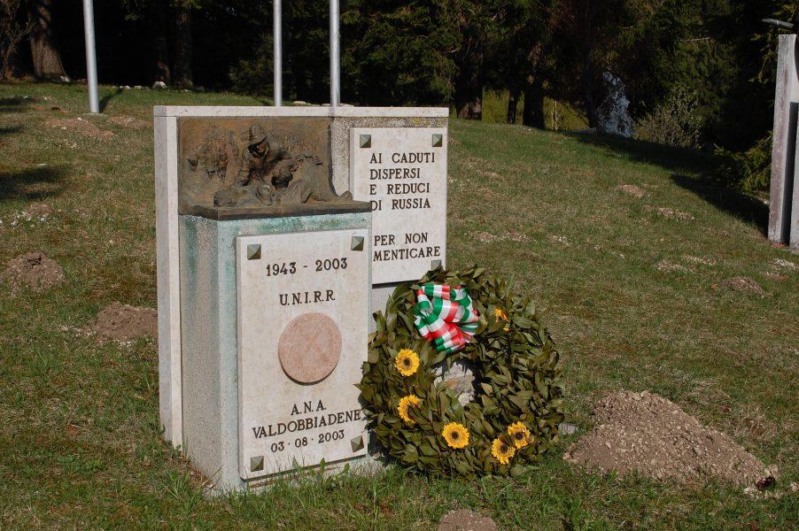 Tempio Internazionale del Donatore - Esterno, monumento ai caduti